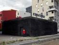Copyright Perrine Lacroix, Wände mit Holzkohle geschwärzt, Nantes 2013