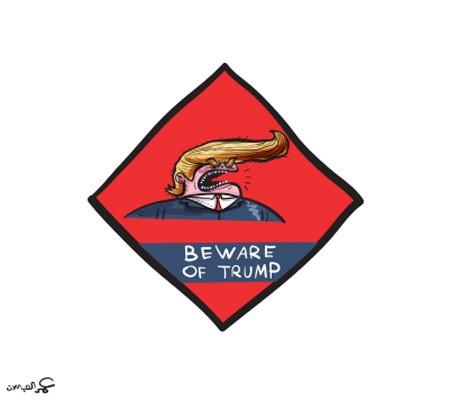 Beware of Trump , Omar Al Abdallat, 2017